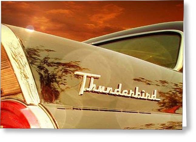Vehicles Greeting Card featuring the photograph 1957 Ford Thunderbird  by Aaron Berg