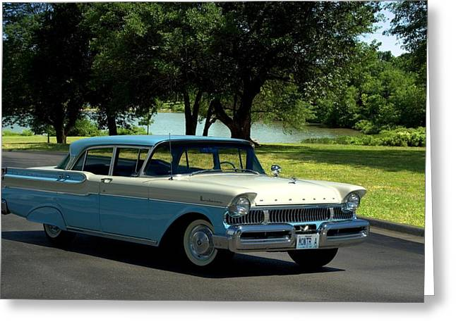 1957 Mercury Monterey Greeting Card