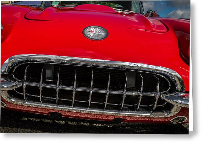 1958 Chevrolet Corvette Grille Greeting Card