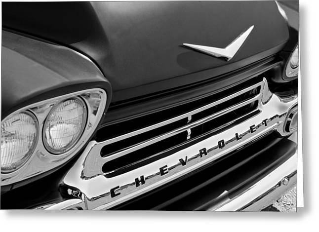 1959 Chevrolet Apache Front End Greeting Card by Jill Reger