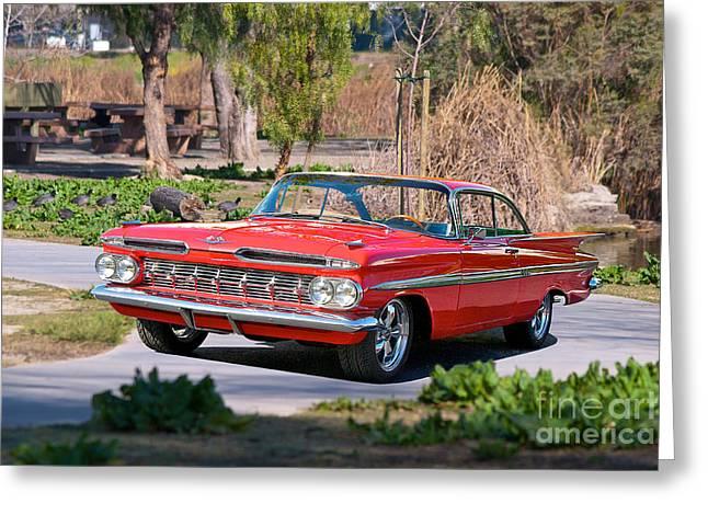 1959 Chevrolet Impala Greeting Card by Dave Koontz