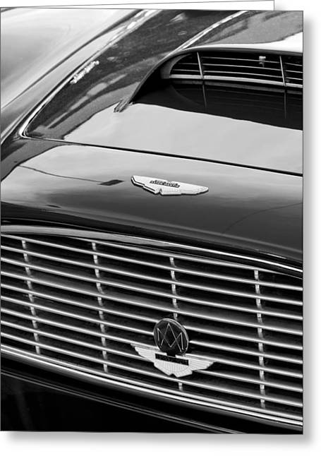 1960 Aston Martin Db4 Grille Emblem Greeting Card by Jill Reger