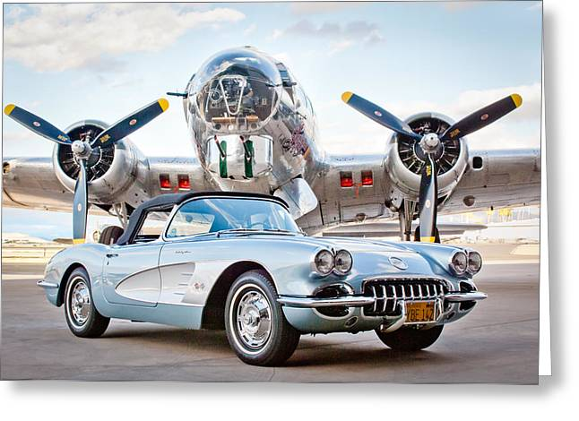 1960 Chevrolet Corvette Greeting Card by Jill Reger
