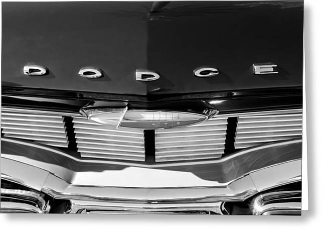 1960 Dodge Grille Emblem Greeting Card by Jill Reger
