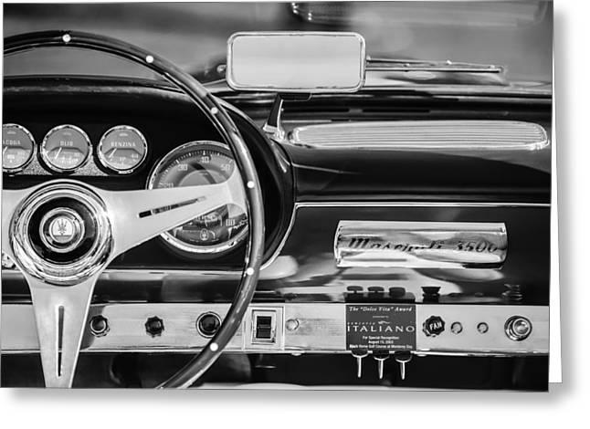 1960 Maserati 3500 Gt Spyder Steering Wheel Emblem Greeting Card