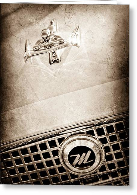 1960 Nash Metropolitan Hood Ornament - Grille Emblem Greeting Card by Jill Reger
