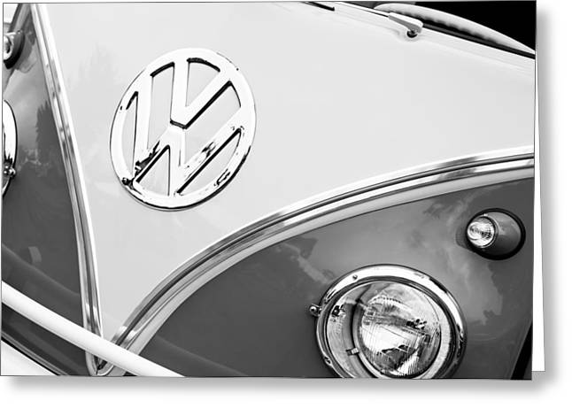 1960 Volkswagen Vw 23 Window Microbus Emblem Greeting Card
