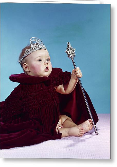 1960s Baby Dressed As Royal Queen Greeting Card