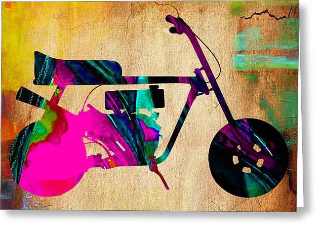 1960's Mini Bike Greeting Card by Marvin Blaine