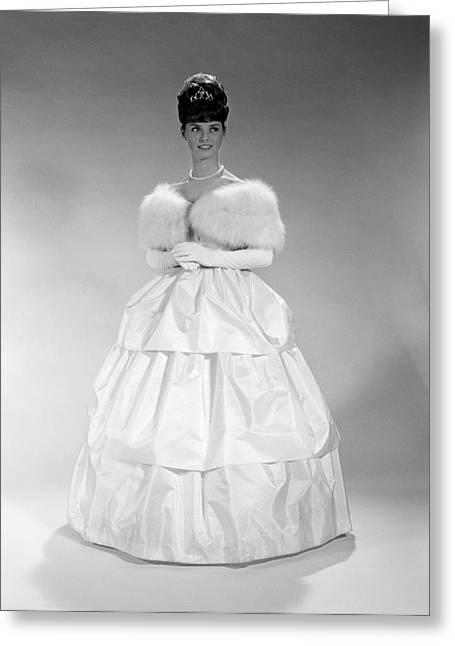 1960s Pretty Young Woman Wearing Tiara Greeting Card