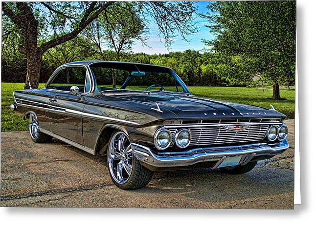 Greeting Card featuring the photograph 1961 Chevrolet Impala by Tim McCullough
