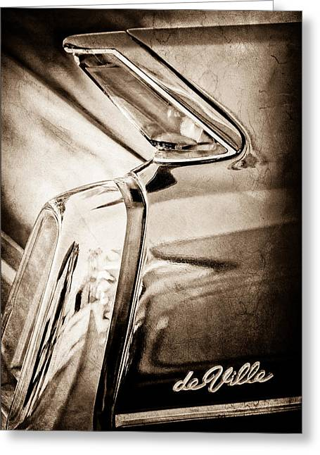 1962 Cadillac Deville Taillight Greeting Card