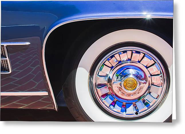 1962 Ghia L6.5 Coupe Wheel Emblem Greeting Card by Jill Reger