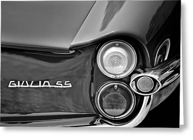 1963 Alfa Romeo Giulia Sprint Special Ss Taillight Emblem Greeting Card by Jill Reger