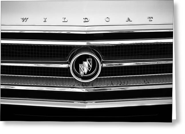 1963 Buick Wildcat Grille Emblem Greeting Card by Jill Reger