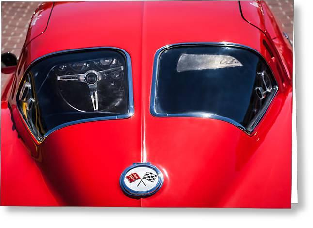 1963 Chevrolet Corvette Split Window -1073c Greeting Card