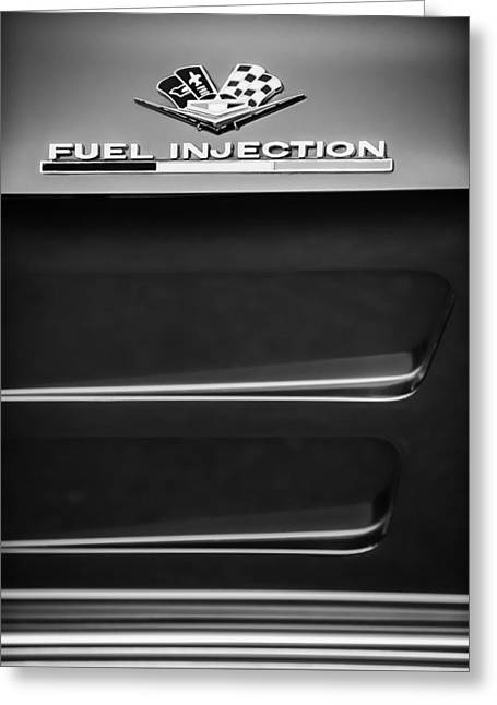 1963 Chevrolet Corvette Sting Ray Fuel-injection Split Window Coupe Emblem Greeting Card