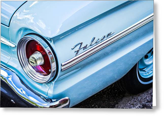 1963 Ford Falcon Futura Convertible Taillight Emblem Greeting Card