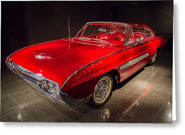 1963 Ford Thunderbird Italian Design Greeting Card by Roger Mullenhour
