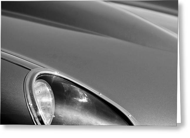 1963 Jaguar Xke Roadster Headlight Greeting Card by Jill Reger
