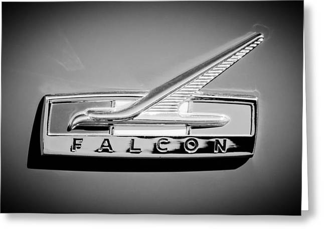 1964 Ford Falcon Emblem Greeting Card by Jill Reger