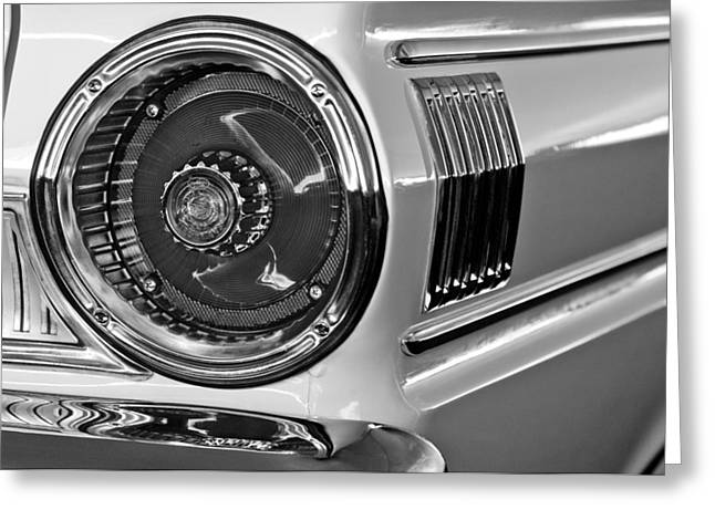 1964 Ford Falcon Sprint Convertible Taillight Greeting Card by Jill Reger