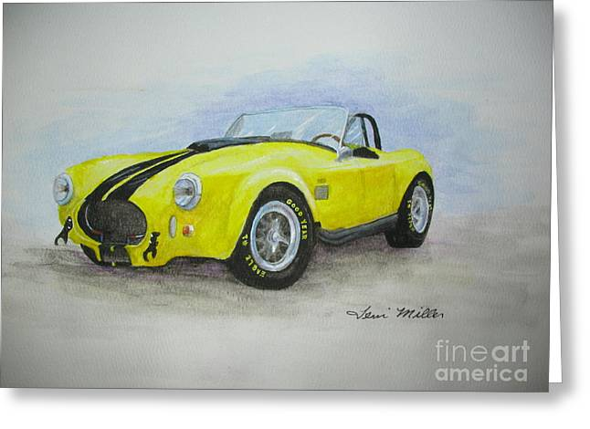 1965 Shelby Cobra Greeting Card by Terri Maddin-Miller