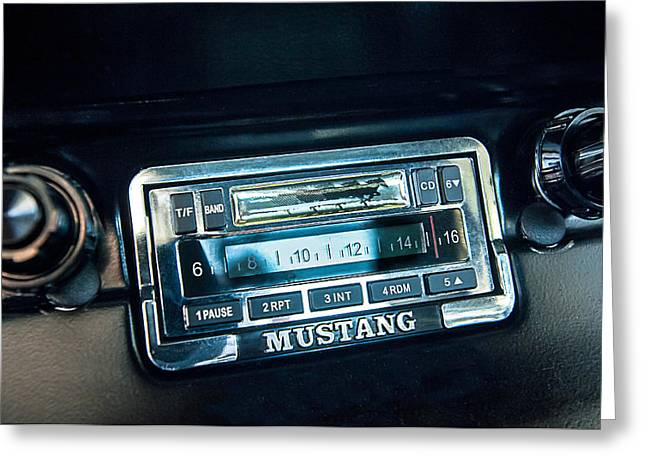 1965 Shelby Prototype Ford Mustang Radio Greeting Card by Jill Reger