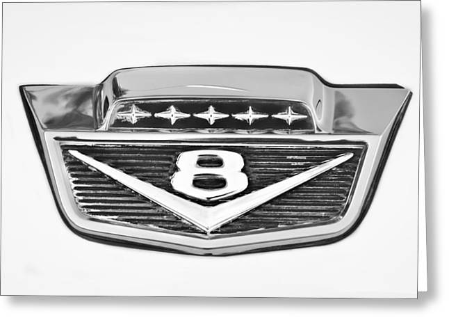1966 Ford F100 Pickup Truck Emblem Greeting Card