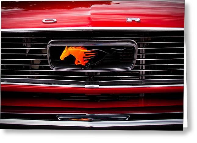 1966 Ford Mustang Greeting Card by David Patterson