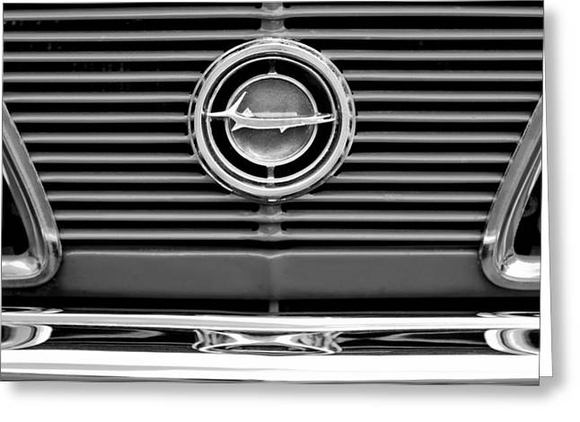 1966 Plymouth Barracuda - Cuda Grille Emblem Greeting Card