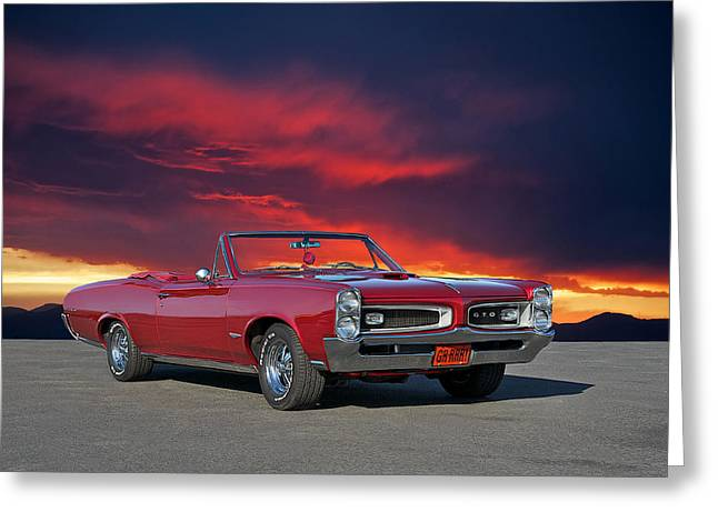 1966 Pontiac Gto Convertible Greeting Card by Dave Koontz