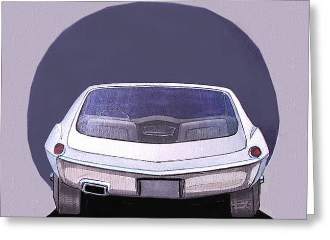 1967 Barracuda  Plymouth Vintage Styling Design Concept Rendering Sketch Greeting Card by John Samsen