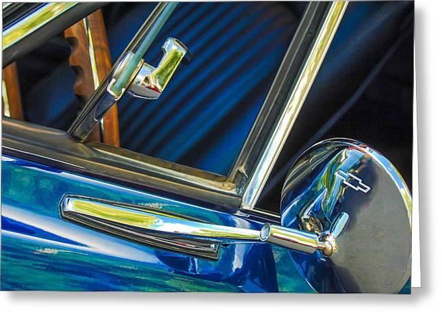 1967 Chevrolet Camaro Ss 350 Rear View Mirror Emblem Greeting Card by Jill Reger