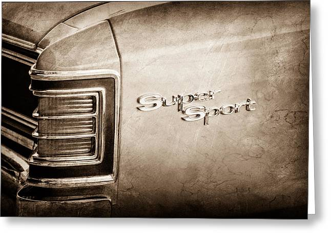 1967 Chevrolet Chevelle Super Sport Taillight Emblem Greeting Card by Jill Reger
