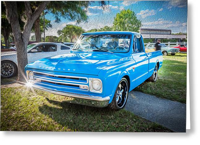 1967 Chevy Silverado Pick Up Truck Painted  Greeting Card