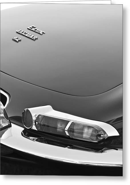 1967 Jaguar E-type 4.2 Liter Series 1 Roadster Taillight Greeting Card by Jill Reger