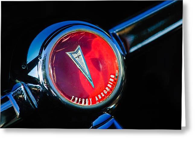 1967 Pontiac Firebird Steering Wheel Emblem Greeting Card by Jill Reger