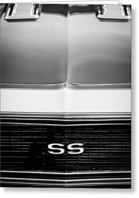 1968 Chevrolet Camaro Ss Grille Emblem Greeting Card by Jill Reger