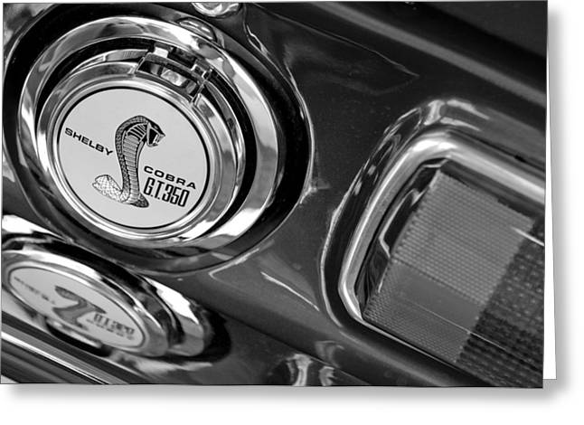 1968 Ford Mustang - Shelby Cobra Gt 350 Taillight And Gas Cap Greeting Card by Jill Reger