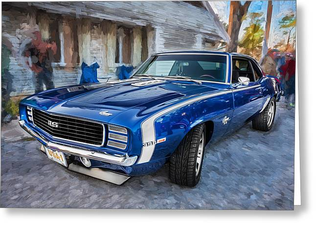 1969 Chevy Camaro Rs Painted    Greeting Card