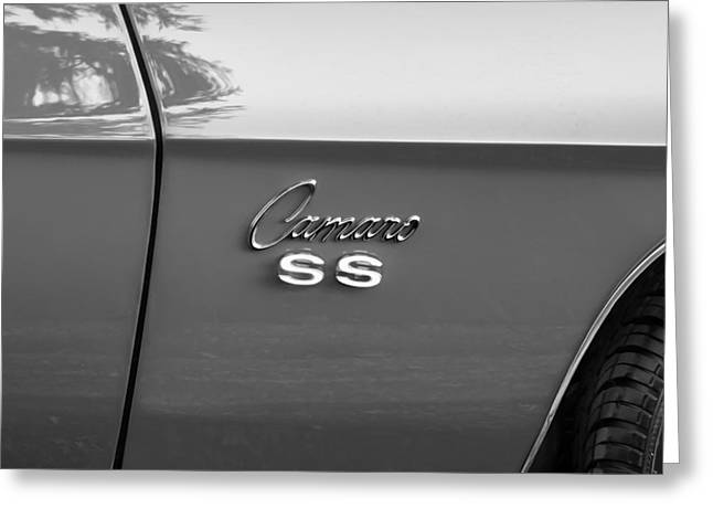 1969 Chevy Camaro Ss 396 Painted Bw Greeting Card