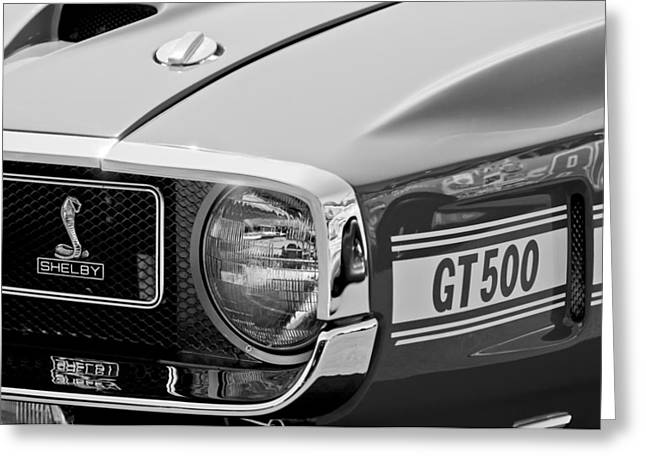 1969 Shelby Gt500 Convertible 428 Cobra Jet Grille Emblem Greeting Card by Jill Reger