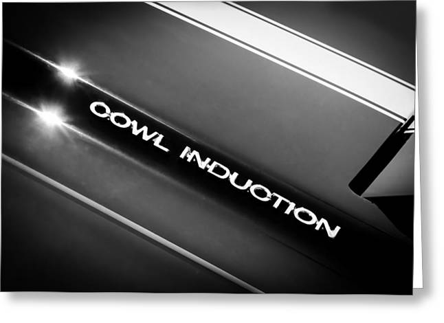 1970 Chevrolet Chevelle 454 Cowl Induction Hood Emblem Greeting Card