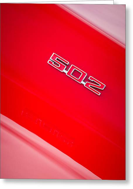 1970 Chevrolet Chevelle Ss 502 Emblem Greeting Card by Jill Reger