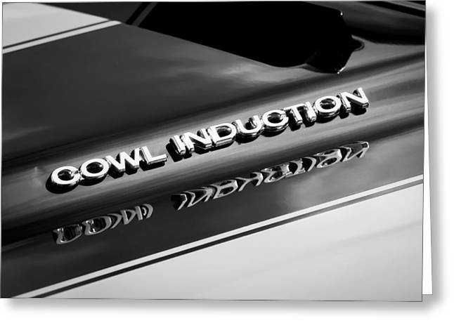 1970 Chevrolet Chevelle Ss Cowl Induction Emblem Greeting Card by Jill Reger