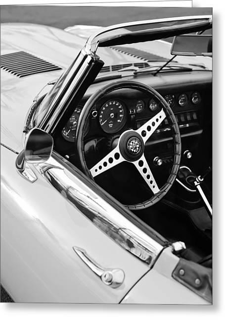 1970 Jaguar Xk Type-e Steering Wheel Greeting Card