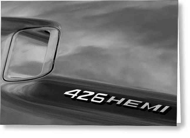 1971 Dodge Hemi Challenger Rt 426 Hemi Emblem Greeting Card