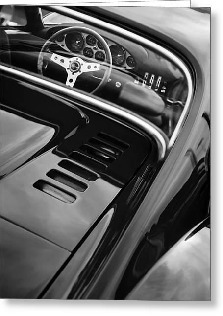 1971 Ferrari Dino 246 Gt Steering Wheel Emblem Greeting Card
