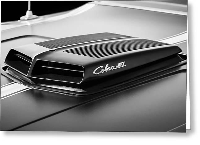 1971 Ford Torino Gt Cobra Jet Emblem Greeting Card